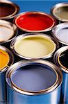 Paint cans, brush and other decoration equipment Stock Photo - Royalty-Free, Artist: FikMik                        , Code: 400-04294757