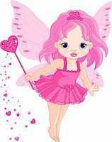 Illustration of Cute little Love baby fairy in fly Stock Photo - Royalty-Freenull, Code: 400-04295064