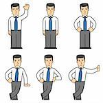set of office worker in different poses Stock Photo - Royalty-Free, Artist: artenot                       , Code: 400-04295441
