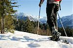 A man makes a snowshoe tour in a beautiful mountain landscape. Stock Photo - Royalty-Free, Artist: toberl77                      , Code: 400-04296115