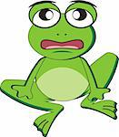 a little frog cartoon Stock Photo - Royalty-Free, Artist: ericulla                      , Code: 400-04296338