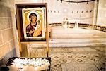 Virgin Mary holding baby Jesus. Tabgha. Church of the Multiplication. Israel Stock Photo - Royalty-Free, Artist: magicinfoto                   , Code: 400-04297807