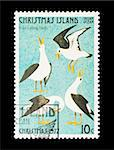 Part of a set of 12 mail stamp printed on Christmas Island depicting the Twelve Days of Christmas, circa 1977 Stock Photo - Royalty-Free, Artist: nelsonart                     , Code: 400-04299423