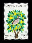 Part of a set of 12 mail stamp printed on Christmas Island depicting the Twelve Days of Christmas, circa 1977 Stock Photo - Royalty-Free, Artist: nelsonart                     , Code: 400-04299424