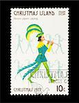 Part of a set of 12 mail stamp printed on Christmas Island depicting the Twelve Days of Christmas, circa 1977 Stock Photo - Royalty-Free, Artist: nelsonart                     , Code: 400-04299430