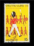 Part of a set of 12 mail stamp printed on Christmas Island depicting the Twelve Days of Christmas, circa 1977 Stock Photo - Royalty-Free, Artist: nelsonart                     , Code: 400-04299434
