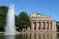 The opera house in Stuttgart is home of the famous ballett Stock Photo - Royalty-Freenull, Code: 400-04300540