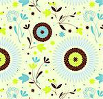 Seamless pattern petro floral, Vector Illustration