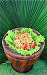 green papaya salad,Thai cuisine Stock Photo - Royalty-Free, Artist: rufous                        , Code: 400-04301272