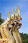 king of naga thai temple Lanna style  In Thailand Stock Photo - Royalty-Free, Artist: kuponjabah                    , Code: 400-04301384