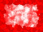 Happy Valentines Day Hearts Border Bokeh Background Illustration