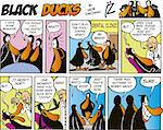 Black Ducks Comic Strip episode 3 Stock Photo - Royalty-Free, Artist: izakowski                     , Code: 400-04303073