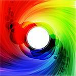 Colorful spectrum with place fore text. vector illustration Stock Photo - Royalty-Free, Artist: avian                         , Code: 400-04303226