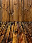 vintage  natural pine dressed boards and  planks with knots  interior Stock Photo - Royalty-Free, Artist: mrVitkin                      , Code: 400-04304654