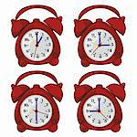 fully editable vector illustration of isolated clocks Stock Photo - Royalty-Free, Artist: pilgrimartworks               , Code: 400-04304783