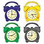 fully editable vector illustration of isolated clocks Stock Photo - Royalty-Free, Artist: pilgrimartworks               , Code: 400-04304784