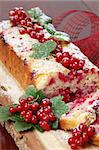 Homemade sponge cake with fresh organic red currants and sugar icing Stock Photo - Royalty-Free, Artist: ingridhs                      , Code: 400-04305820