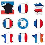 French symbols and icons. Vector collection. Stock Photo - Royalty-Free, Artist: alvaroc                       , Code: 400-04306333