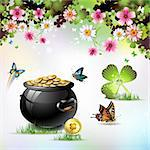 St. Patrick's Day card design Stock Photo - Royalty-Free, Artist: Merlinul                      , Code: 400-04308191