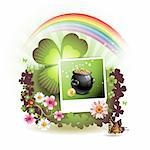 St. Patrick's Day card design Stock Photo - Royalty-Free, Artist: Merlinul                      , Code: 400-04308209