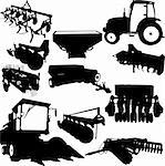 Agricultural Machinery collection - vector