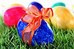 lots of colorful Easter eggs on a meadow Stock Photo - Royalty-Free, Artist: silencefoto                   , Code: 400-04308739