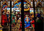 Church window in the Dom of Cologne, Germany, depicting the Adoration of the Magi (Epiphany) and the Adoration of the shepherds. The window, made in the Royal Glass Painting Manufactory in Munich, was created in 1846. Stock Photo - Royalty-Free, Artist: jorisvo                       , Code: 400-04308757