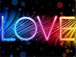 Vector - Valentine Day Love Word Abstract Colorful Waves Rainbow Background Stock Photo - Royalty-Free, Artist: gubh83                        , Code: 400-04310519