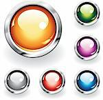 Collection of six glossy buttons in various colors Stock Photo - Royalty-Free, Artist: ThomasAmby                    , Code: 400-04310550