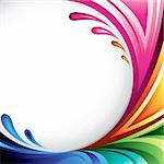 A splash of various colors - Background design for your text Stock Photo - Royalty-Free, Artist: ThomasAmby                    , Code: 400-04310659
