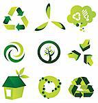 A set of nine environmental vector design elements Stock Photo - Royalty-Free, Artist: ThomasAmby                    , Code: 400-04310689