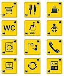 Set of the roadside services related icons Stock Photo - Royalty-Free, Artist: tele52                        , Code: 400-04311547