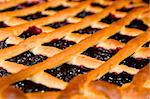 close up of a fresh blueberry pie Stock Photo - Royalty-Free, Artist: sergey_peterman               , Code: 400-04311878
