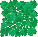 Background with clovers for St.Patrick`s day with one happy clover, vector illustration Stock Photo - Royalty-Free, Artist: MarketOlya                    , Code: 400-04312251