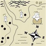 Treasure Map Stock Photo - Royalty-Free, Artist: albumkoretsky                 , Code: 400-04313485