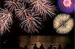 Fireworks with spectator at han river in seoul korea Stock Photo - Royalty-Free, Artist: fiftycents                    , Code: 400-04314079