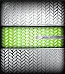 Fluted silver metal texture. Vector background Illustration Stock Photo - Royalty-Free, Artist: emaria                        , Code: 400-04314825