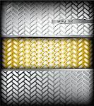 Fluted silver metal texture. Vector background Illustration Stock Photo - Royalty-Free, Artist: emaria                        , Code: 400-04314827