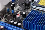 computer motheboard, electronic components on circuits board Stock Photo - Royalty-Free, Artist: Mekong                        , Code: 400-04315507