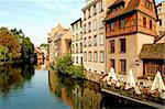 The river Ill in the Petite France - Strasbourg - France Stock Photo - Royalty-Free, Artist: francovolpato                 , Code: 400-04315601