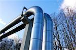 pipes of an industrial oil pipeline for the transport of oil