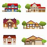 Various architectural single house designs Stock Photo - Royalty-Free, Artist: soleilc                       , Code: 400-04317515