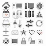a set of few web icons, vector illustration Stock Photo - Royalty-Free, Artist: th12                          , Code: 400-04317626