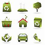 Recycling and green related eco symbols Stock Photo - Royalty-Free, Artist: soleilc                       , Code: 400-04317633