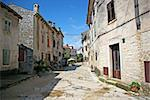 Colourful narrow alley in Istria, Croatia. Stock Photo - Royalty-Free, Artist: jellie                        , Code: 400-04318837