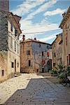 Colourful narrow alley in Istria, Croatia. Stock Photo - Royalty-Free, Artist: jellie                        , Code: 400-04318846