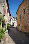 Colourful narrow alley in Istria, Croatia. Stock Photo - Royalty-Free, Artist: jellie                        , Code: 400-04318847