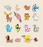 hand draw animals Stock Photo - Royalty-Freenull, Code: 400-04319250