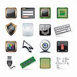 computer parts set Stock Photo - Royalty-Free, Artist: Ika747                        , Code: 400-04319420