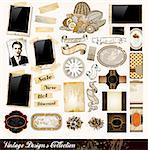Vintage Elements Collection - PhotoFrames, Adhesive Straps, Vintage Labels, Complete Backgrounds, Ribbons, Fruits and so on Stock Photo - Royalty-Free, Artist: DavidArts                     , Code: 400-04320082